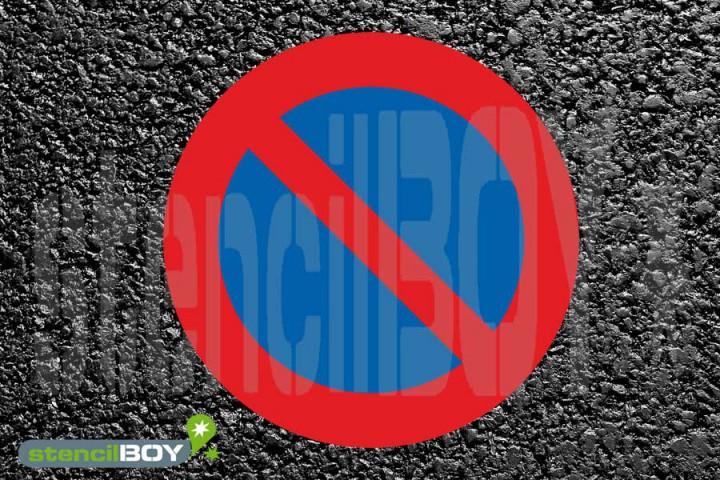 """""""no-parking zone"""" - 2-Piece Floor Marking Stencil"""