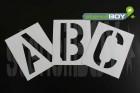 50mm Magnet-Buchstabenschablonen A-Z nach DIN 1451