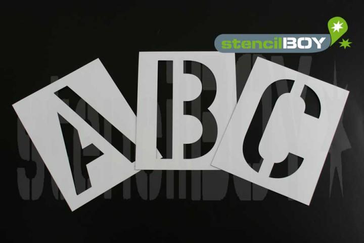 50mm Buchstaben Magnetschablone nach DIN 1451