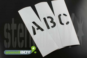 100mm Magnetic letter stencils according to font AE with spray protection
