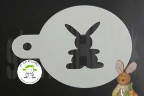 """Cappuccino coffee stencil """"Easter bunny"""""""