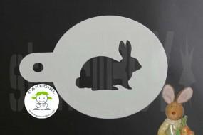 """Cappuccino coffee stencil """"Easter bunny 1"""""""