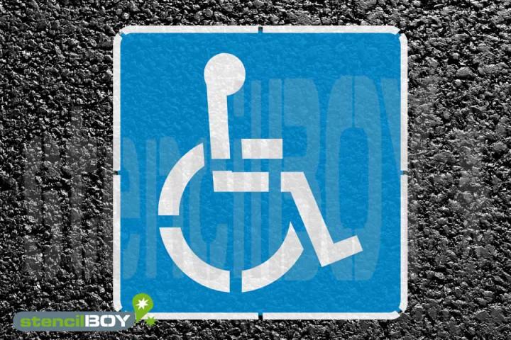 """""""Rollstuhlfahrer"""" Bodenmarkierungs-Schablonenset"""