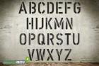 500mm Buchstabenschablonen nach DIN 1451 mit Sprühnebelschutz