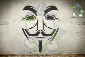 Guy Fawkes - Kunststoffschablone - Wandschablone