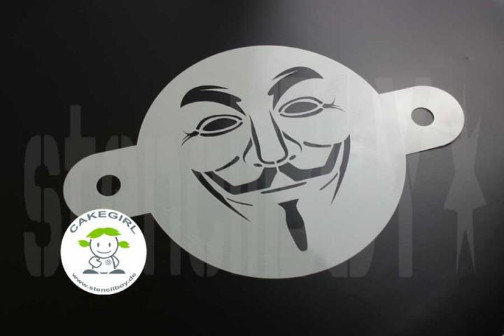 Guy Fawkes - Cake Stencil