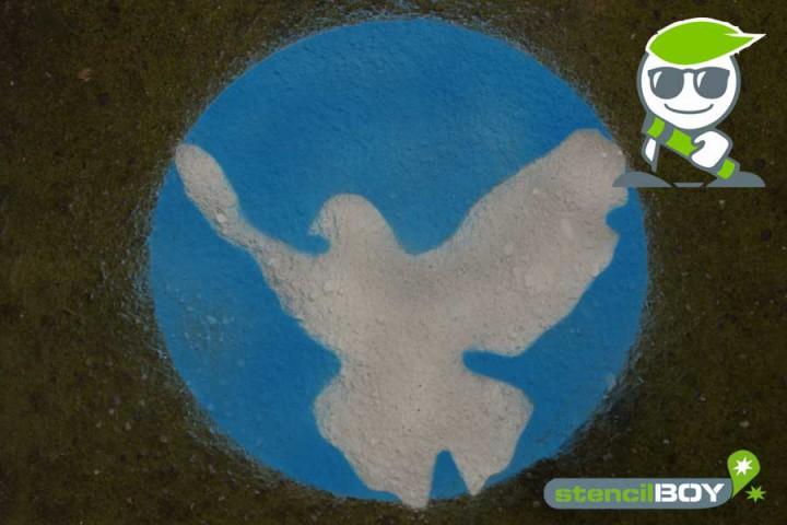 Friedenstaube Set - 2teilige Boden- oder Wandmarkierungsschablone