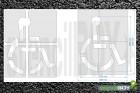 """""""Rollstuhlfahrer"""" Grösse XXL Bodenmarkierungs-Schablone"""