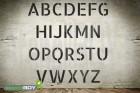75mm Buchstabenschablone Font AL mit Sprühnebelschutz