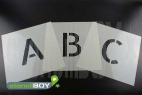 150mm Buchstabenschablone Font AL mit Sprühnebelschutz
