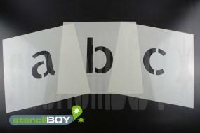 150mm Kleinbuchstabenschablone Font AL mit Sprühnebelschutz