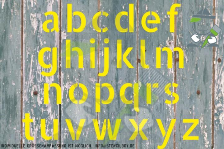 400mm Kleinbuchstabenschablonen Font AL mit Sprühnebelschutz