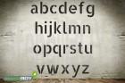 250mm Kleinbuchstabenschablonen Font AL mit Sprühnebelschutz