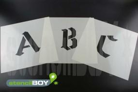 200mm Buchstabenschablonen Font GO mit Sprühnebelschutz