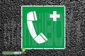 Notruftelefon - Schablone