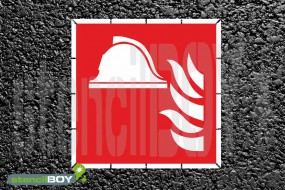 Mittel und Geräte zur Brandbekämpfung - Schablone