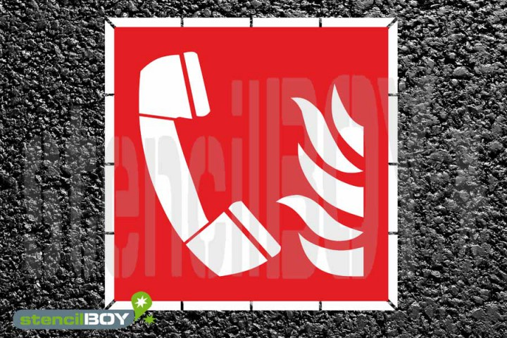 Brandmeldetelefon - Schablone