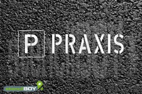 """""""PARKPLATZ - PRAXIS"""" Bodenmarkierungs - Schablone"""
