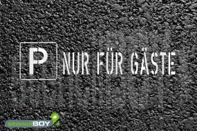 """""""PARKPLATZ - NUR FÜR GÄSTE"""" Bodenmarkierungs - Schablone"""