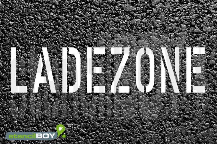 LADEZONE - Schablone