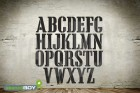 200mm Buchstabenschablonen Font CA mit Sprühnebelschutz
