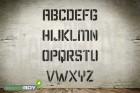 100mm Buchstabenschablonen Font KA mit Sprühnebelschutz