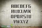 150mm Buchstabenschablonen Font BL mit Sprühnebelschutz