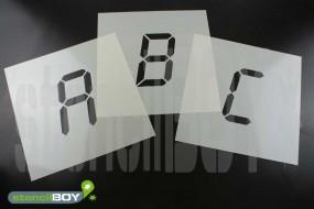 100mm Buchstabenschablonen Font LD mit Sprühnebelschutz
