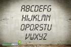 200mm Buchstabenschablonen Font LD mit Sprühnebelschutz