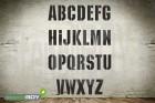 150mm Buchstabenschablonen Font KI mit Sprühnebelschutz