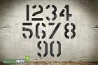 Zahlenschablone Font AE mit Sprühnebelschutz