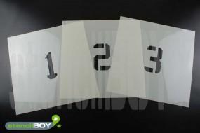 100mm Zahlenschablonen 0-9 Font KA mit Sprühnebelschutz
