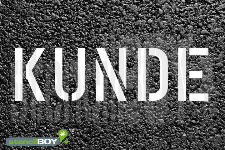 """""""KUNDE"""" Parkplatz Schablone"""