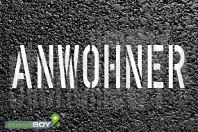 """""""ANWOHNER"""" Parkplatz Schablone"""