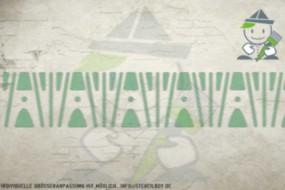 Border stencil motif 10503