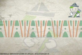 Border stencil motif 10504