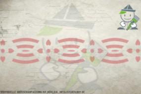 Border stencil motif 10505