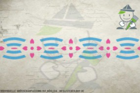 Border stencil motif 10506