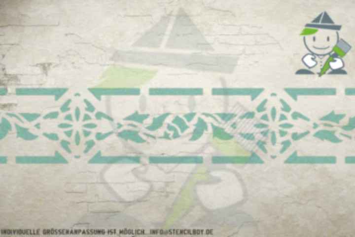 Border stencil motif 10507