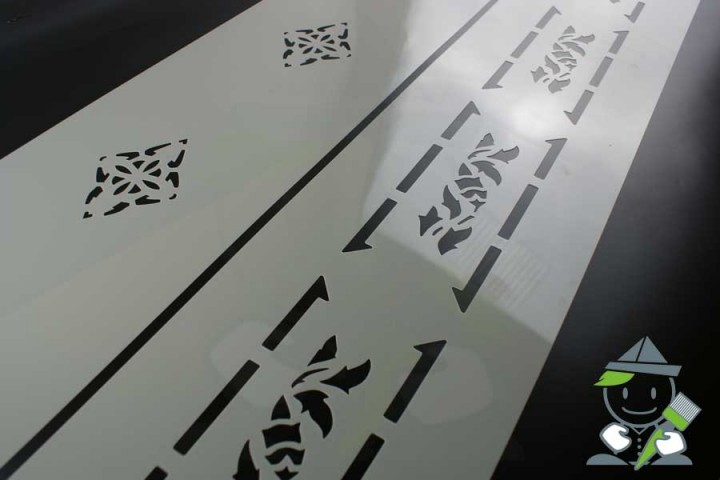 wandschablone motiv 10508 mehrschl gige wandschablonen. Black Bedroom Furniture Sets. Home Design Ideas