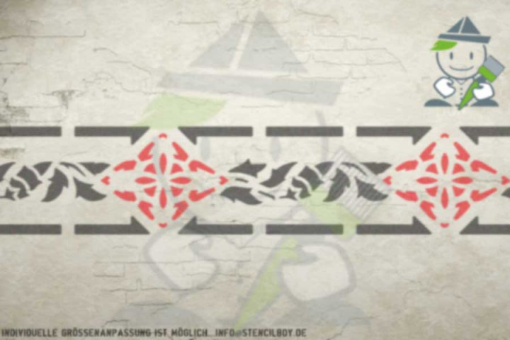 Border stencil motif 10508