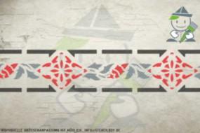 Border stencil motif 10510