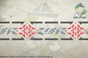 Border stencil motif 10511