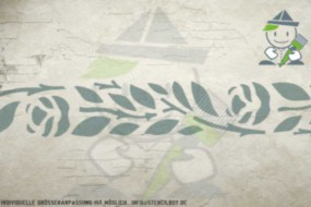Wandschablone Motiv 10512