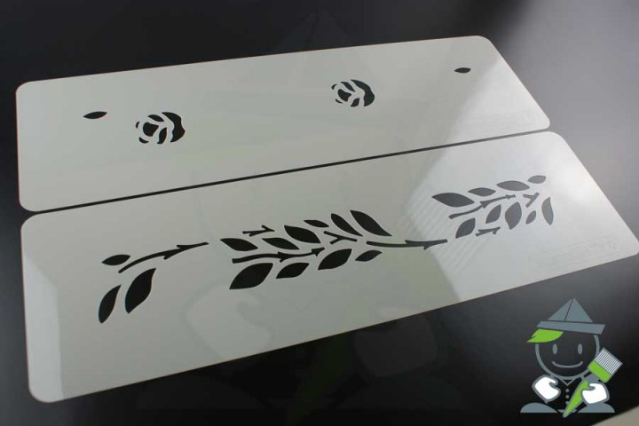 wandschablone motiv 10513 mehrschl gige wandschablonen. Black Bedroom Furniture Sets. Home Design Ideas