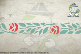 Border stencil motif 10513