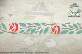 Border stencil motif 10514