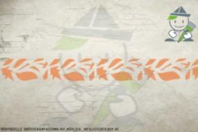 Border stencil motif 10515