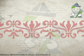 Border stencil motif 10516