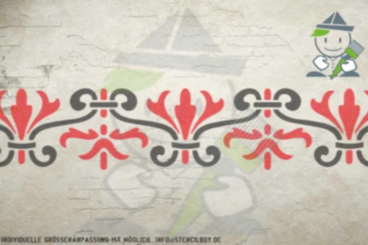 Border stencil motif 10517